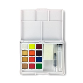 Koi Pocket Watercolour Set - Metallic & Fluorescent Colours 12 x 1/2 Pan
