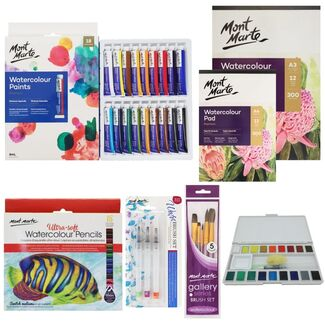 Mont Marte Watercolour Essential Starter Kit - 67 pieces