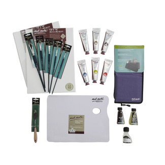 Oil Painting Essential Starter Kit - 19 pieces