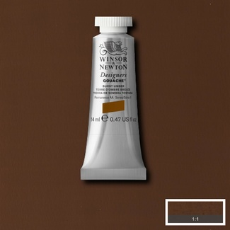 Winsor & Newton Designers' Gouache Colour 14ml S1 - Burnt Umber