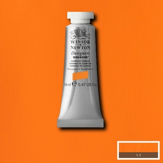 Winsor & Newton Designers' Gouache Colour 14ml S4 - Cadmium Orange