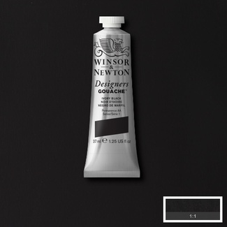 Winsor & Newton Designers' Gouache Colour 14ml S1 - Ivory Black
