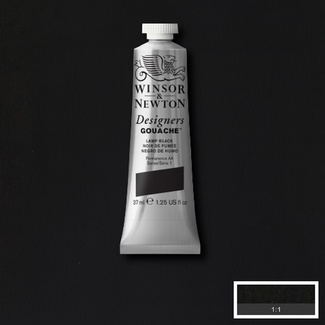 Winsor & Newton Designers' Gouache Colour 14ml S1 - Lamp Black