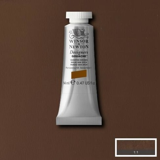 Winsor & Newton Designers' Gouache Colour 14ml S1 - Vandyke Brown