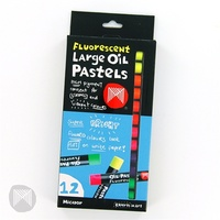 Micador Large Oil Pastels Fluoro 12 Pack