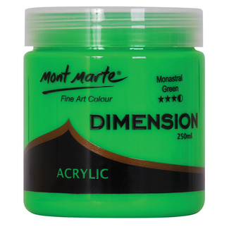 Mont Marte Dimension Acrylic Paint 250ml Pot - Monastral Green
