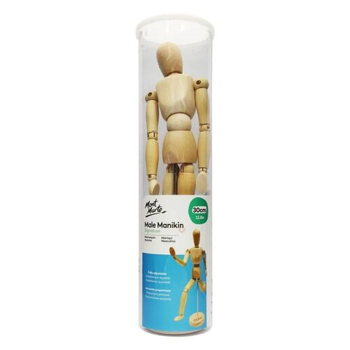 Mont Marte Mannekin Male 30cm in acetate box