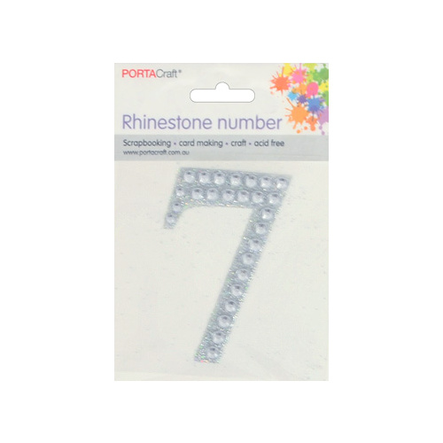 Rhinestone Numbers 63x65mm 7