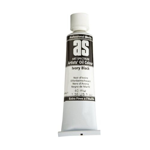 Art Spectrum Oil 40ML Series 1 - Ivory Black