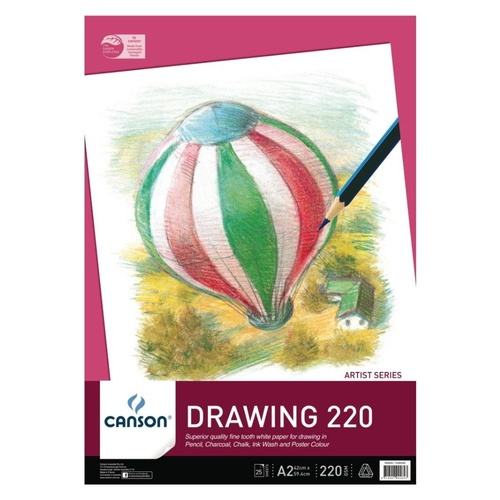 Canson Drawing Pad A2 25 sheets 220gsm