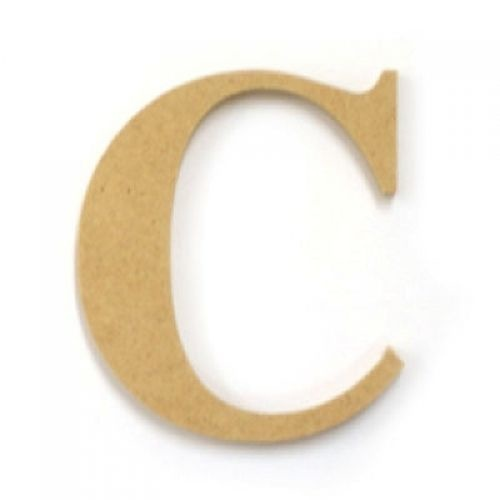 Kaisercraft Large Wooden Letter - C  (Approx 9 x 10cm)