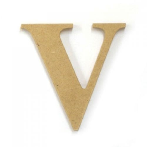 Kaisercraft Large Wooden Letter - V  (Approx 9 x 10cm)