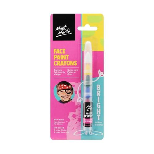 Mont Marte Kids Face Painting Crayons - Bright