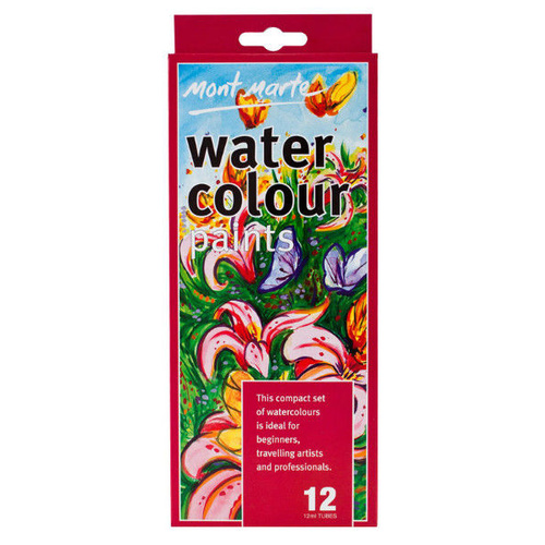 Mont Marte Water Colours Packet of 12