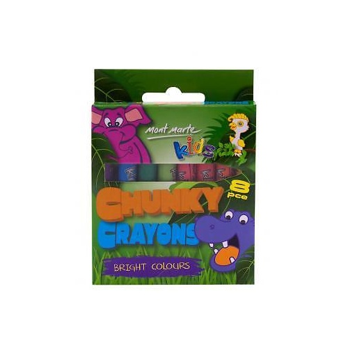 Mont Marte Kids - Chunky Crayons 8pc