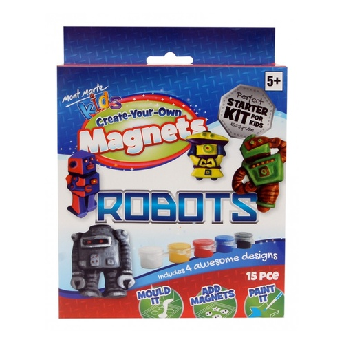 Mont Marte Kids - Create Your Own Magnets - Robots
