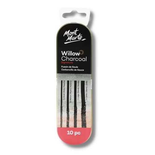 Mont Marte Willow Charcoal In Tin 10pc