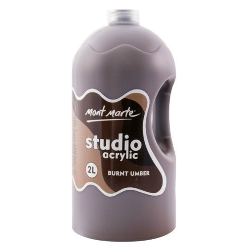 Mont Marte Studio Acrylic Paint Bottle 2L - Burnt Umber
