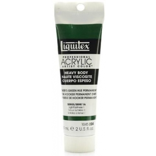 Liquitex Heavy Body Acrylic Paint 59ml- Hookers Green Hue Permanent 224 Series 1A