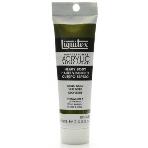 Liquitex Heavy Body Acrylic Paint 59ml- Green Gold 325 Series 4