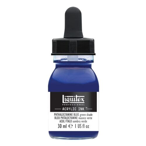 Liquitex Professional Acrylic Ink 30mls - Phthalocyanine blue green shade 316