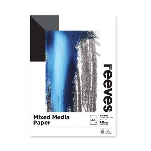 Reeves Mixed Media Pad A3 200gsm 15 Sheets