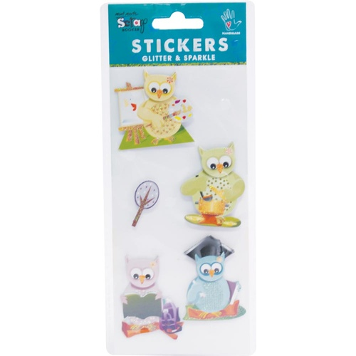 Mont Marte Stickers - H/M Minis Activity Owls 5pce