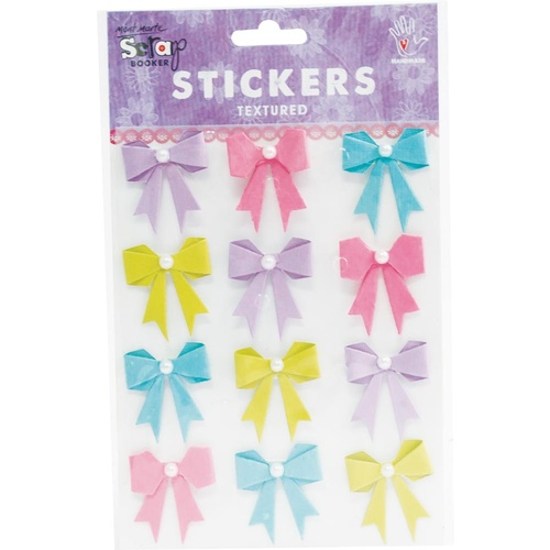 Mont Marte Stickers - Pearl Bows French Carnival 12pce