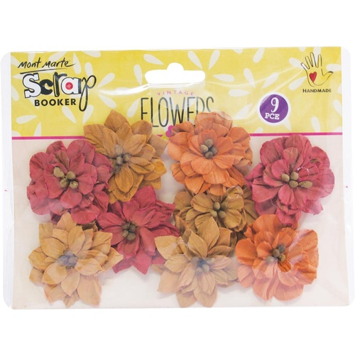 Mont Marte Flowers - Serenade Blooms Rustic Blush 9pce