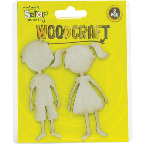 Mont Marte Woodcraft - Chipboard Boy & Girl 2pce