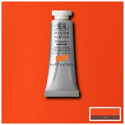 Winsor & Newton Designers' Gouache Colour 14ml - Orange Lake Deep
