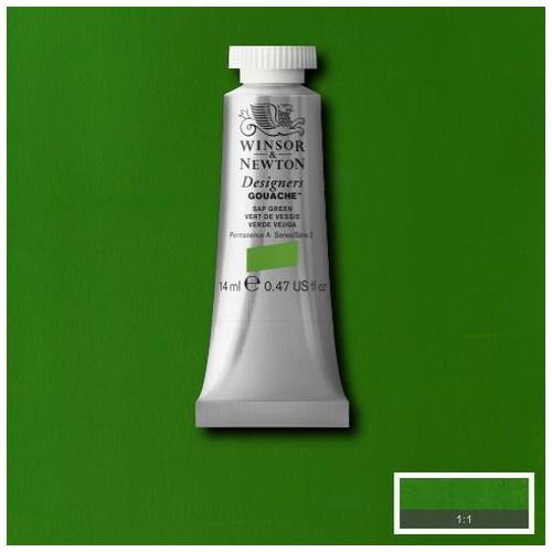 Winsor & Newton Designers' Gouache Colour 14ml - Sap Green